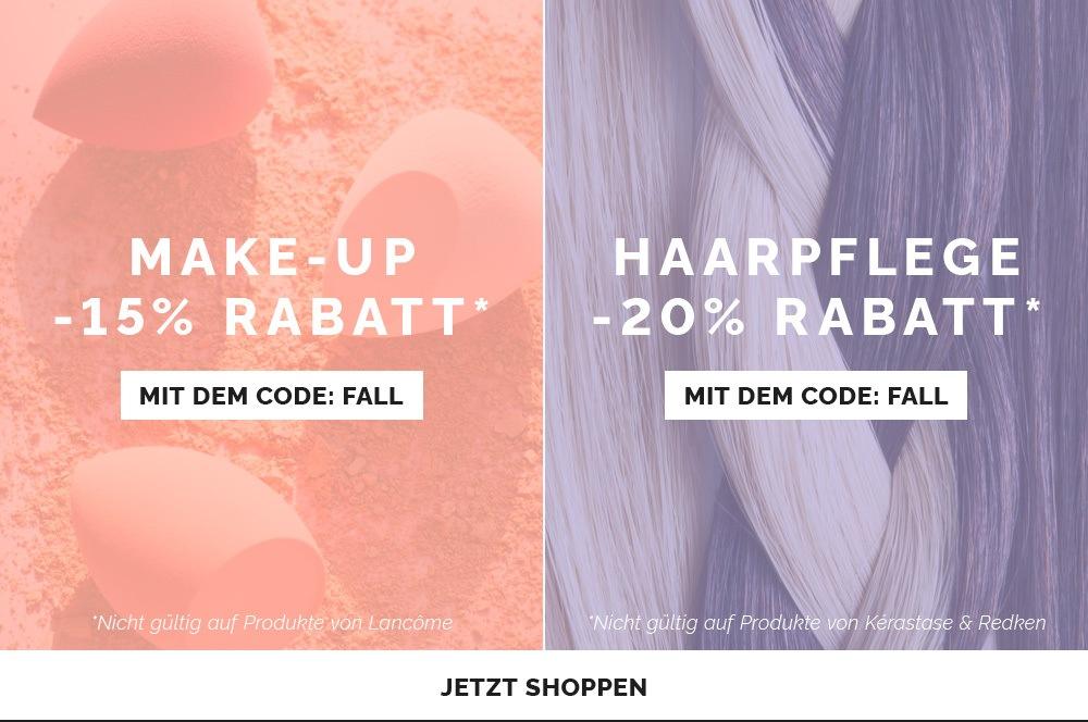 Haarpflege mindestens -20% & Make-Up mindestens 15% mit code: FALL
