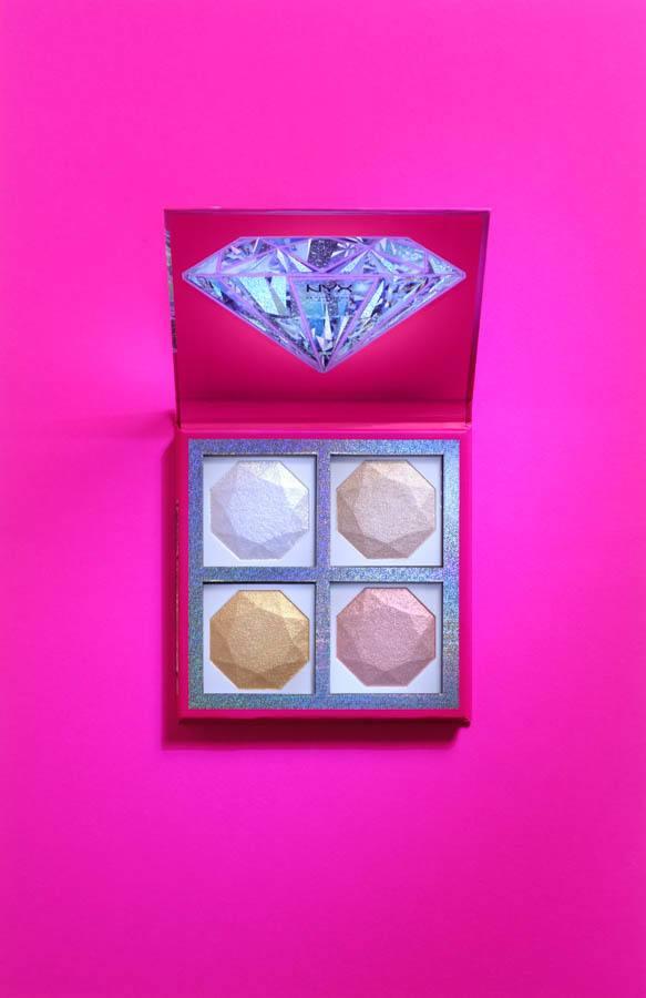 NYX Professional Makeup Xmas Diamonds & Ice Quad Highlighter (4 x 20 g)