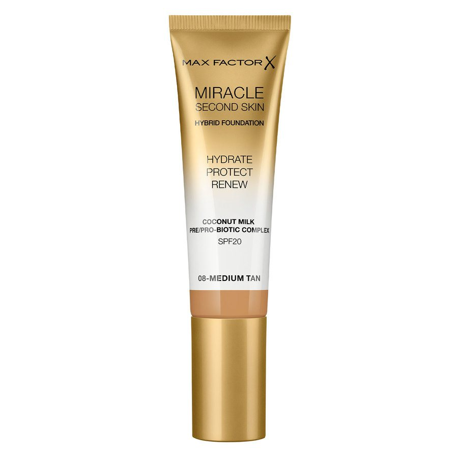 Max Factor Miracle Second Skin Foundation, #008 Medium Tan (33 ml)