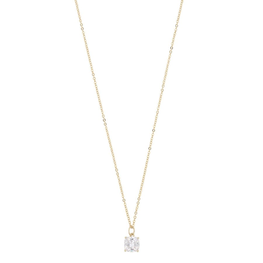Snö Of Sweden Camille Stone Pendant Halskette (50 cm), Gold/Clear