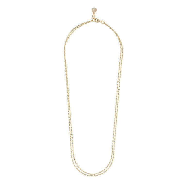 Snö Of Sweden Stine Double Chain Necklace, Plain G 45 cm