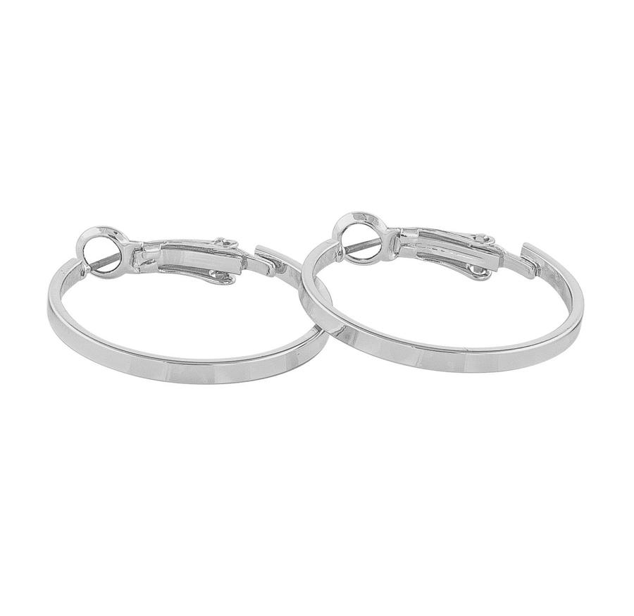 Snö Of Sweden Moe Ring Earring, Plain Silver (25 mm)