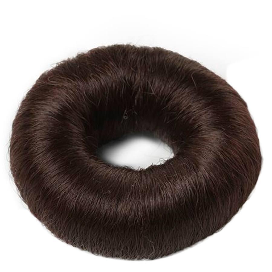 Bravehead Synthetic Hair Bun (groß), braun