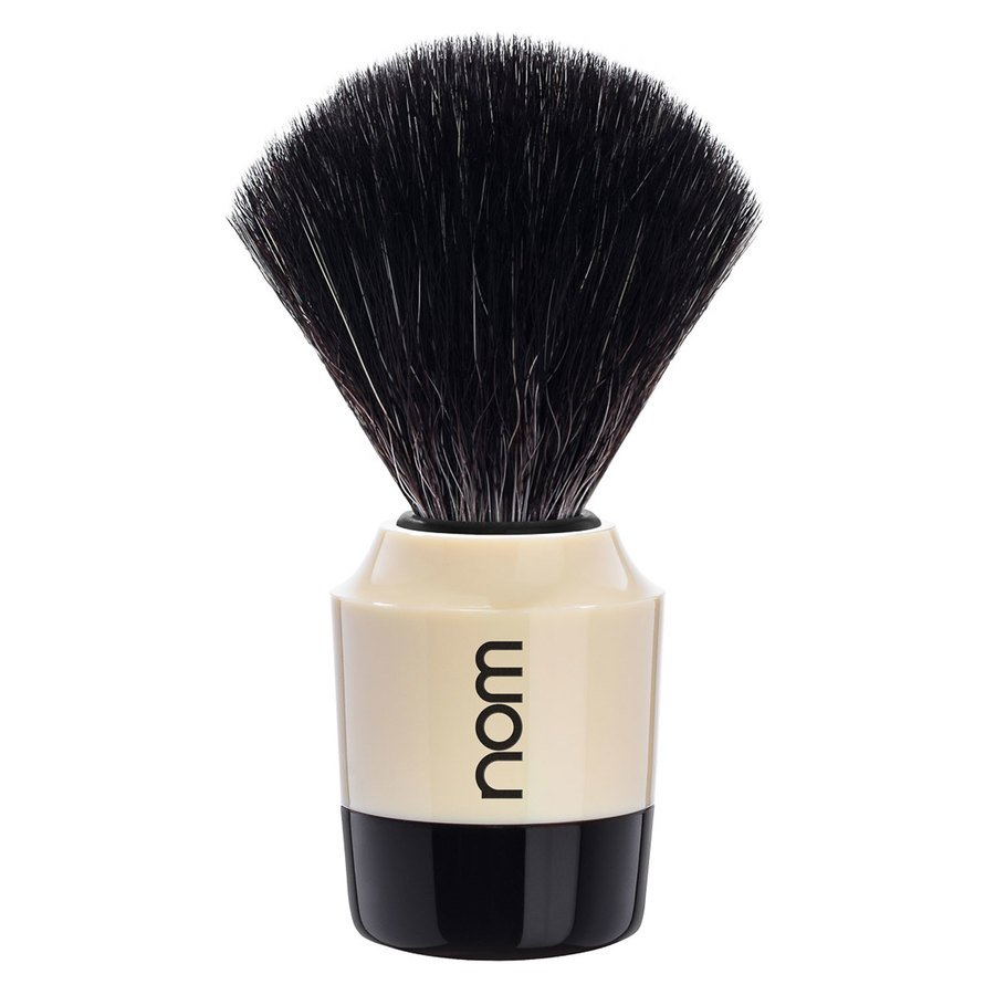 Nom Marten Shaving Brush Black Fibre Black Creme