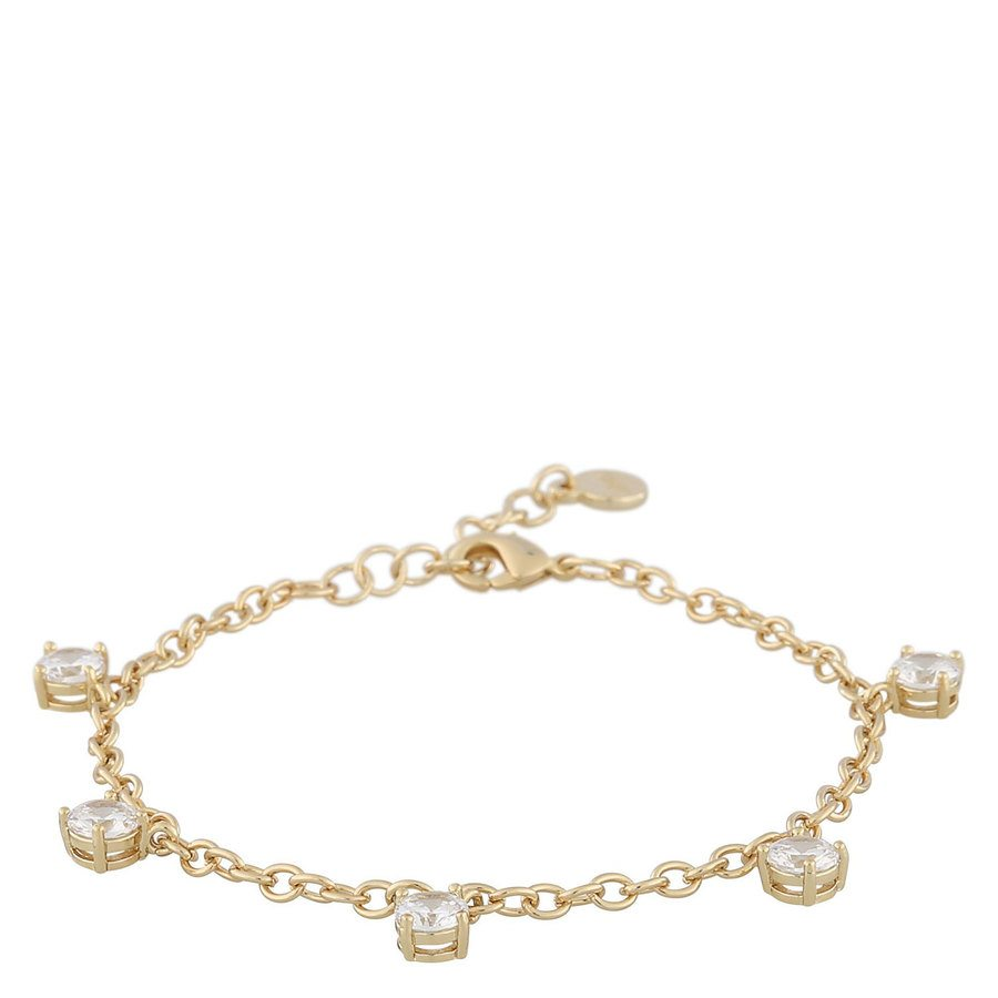 Snö Of Sweden Luire Stone Charm Bracelet, Gold/Clear