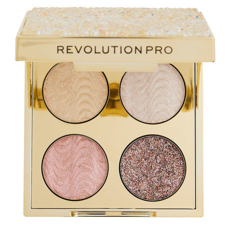 Makeup Revolution Pro Ultimate Crystal Eye Quad, Champagne Crystal 4 x 0,8 g