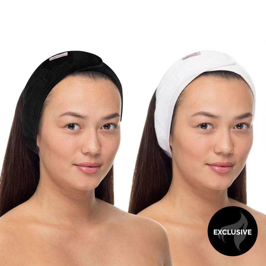Headband Black/White 2 Stück