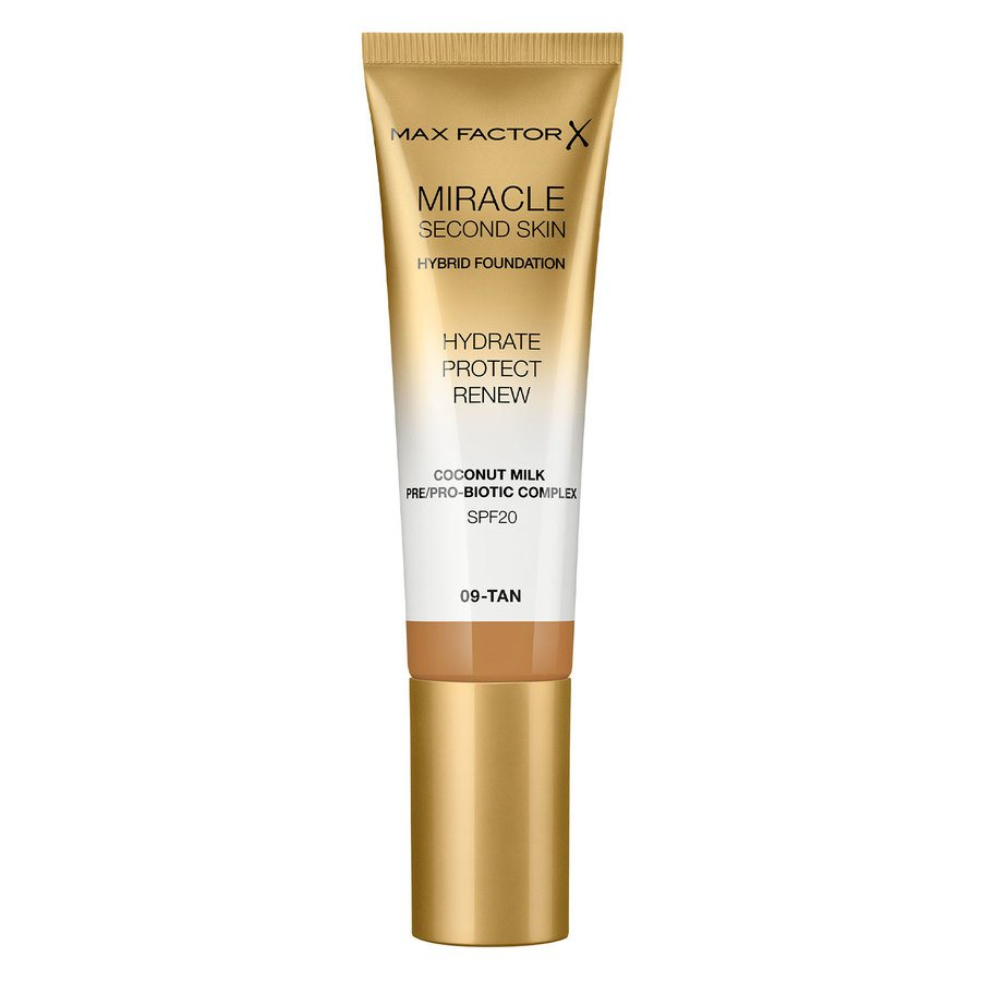 Max Factor Miracle Second Skin Foundation, # 009 Tan (33 ml)