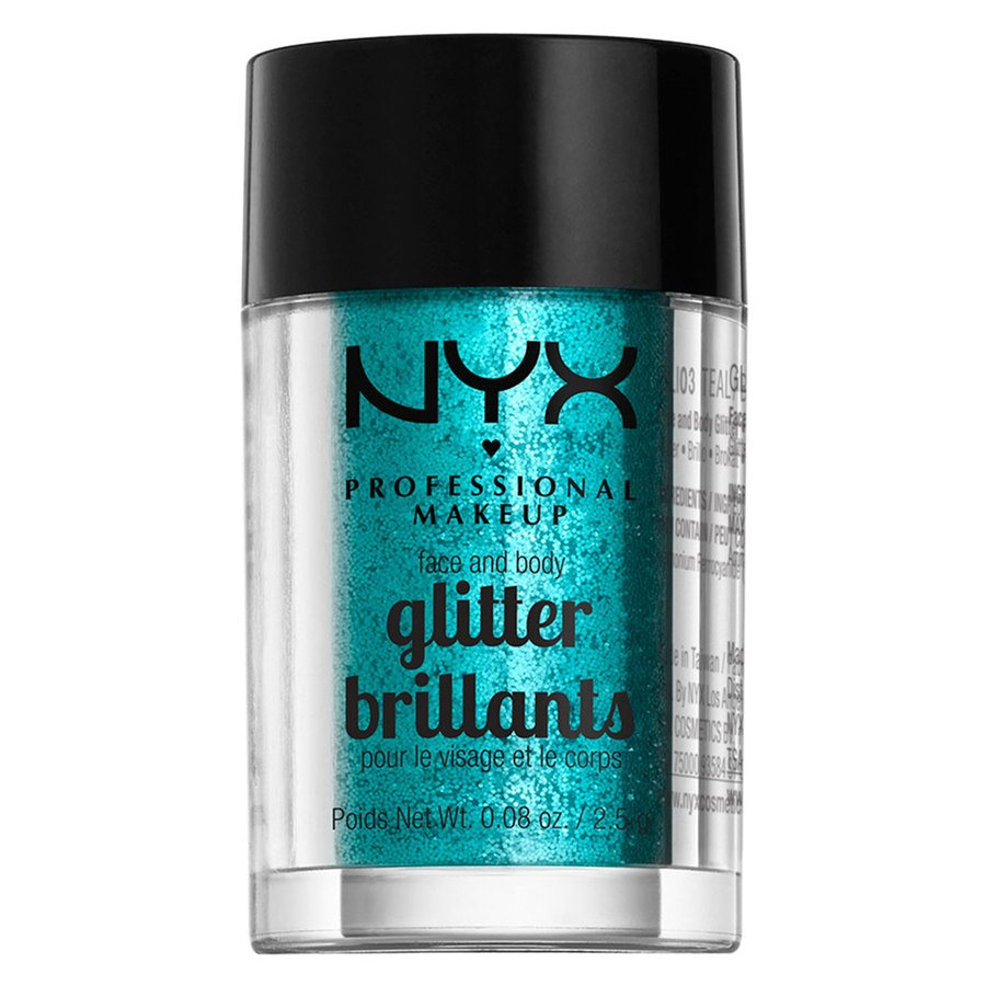 NYX Professional Makeup Face And Body Glitter, Teal GLI03 (2,5 g)