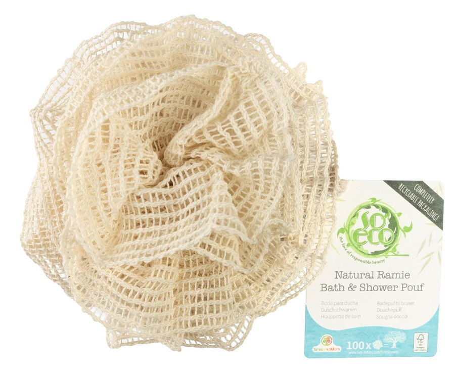 So Eco Natural Ramie Bath & Shower Pouf