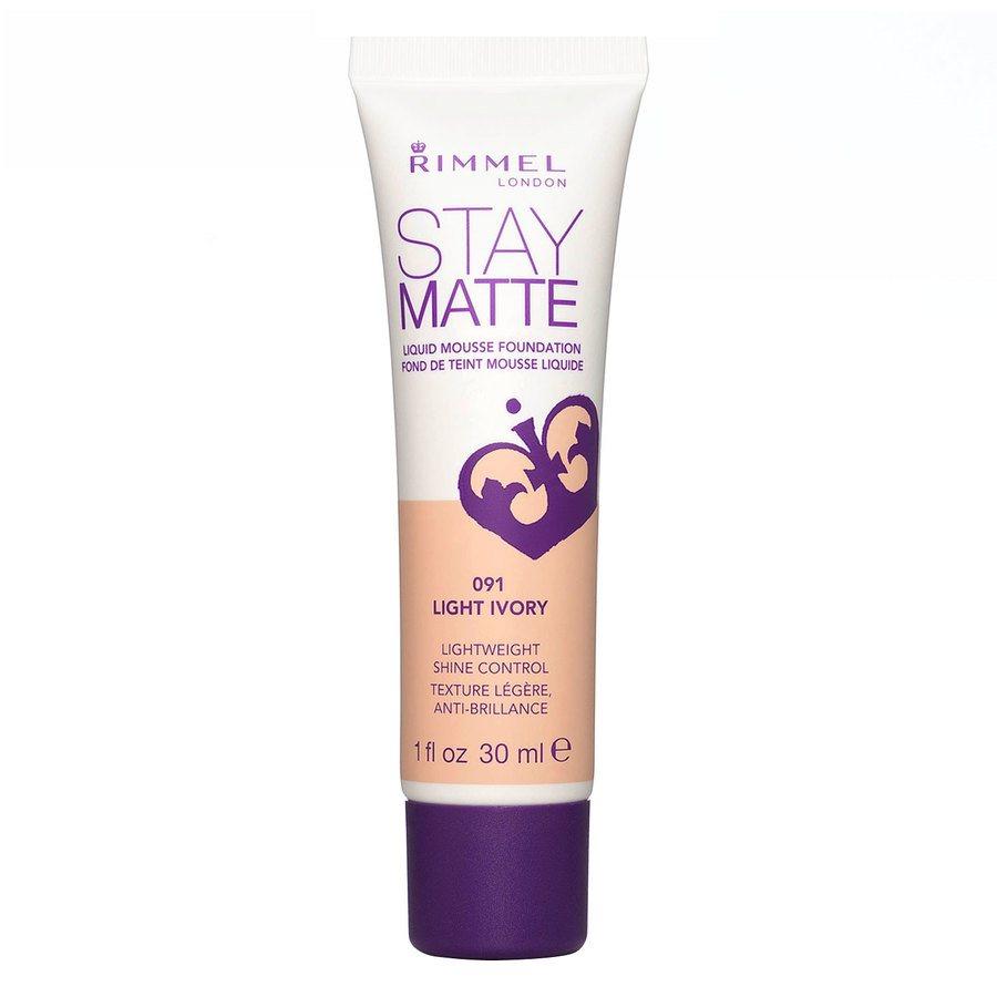 Rimmel Stay Matte Mousse Liquid Foundation, Light Ivory 091 (30 ml)