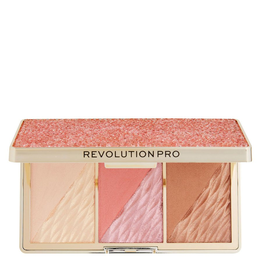 Makeup Revolution Pro Crystal Luxe Dimension Palette, Rose Fresco 3 x 2,8 g