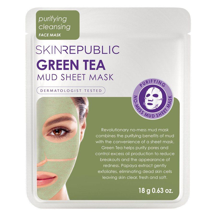 Skin Republic Green Tea Mud Sheet Face Mask (18 g)