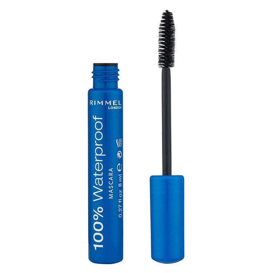 Rimmel 100 % Waterproof Mascara, Black (8 ml)