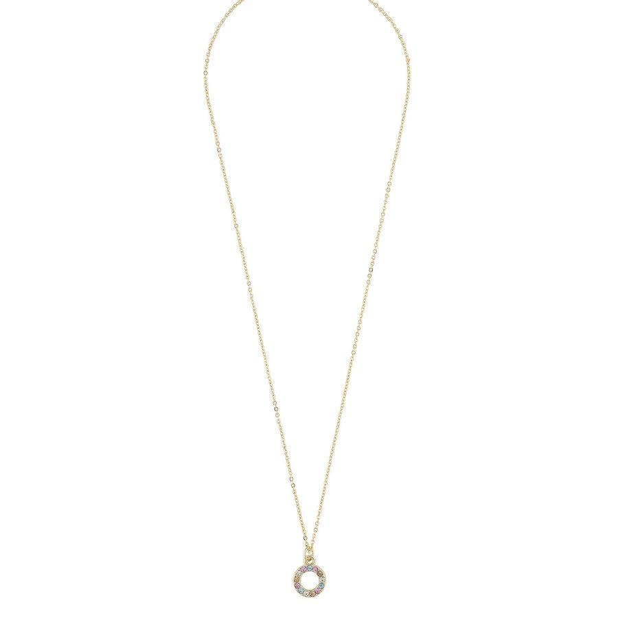 Snö Of Sweden Lindsey, Halskette mit kleinem Anhänger (42cm), Gold/Pink Mix