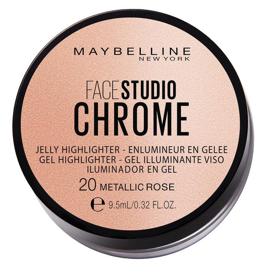 Maybelline Chrome Jelly Highlight, #20 Metallic Rose (9,5 ml)