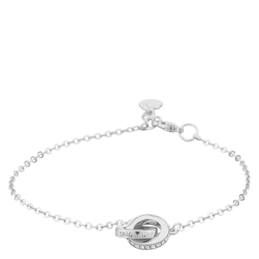 Snö Of Sweden Connected Pendant Necklace, Silver/Clear (42cm)