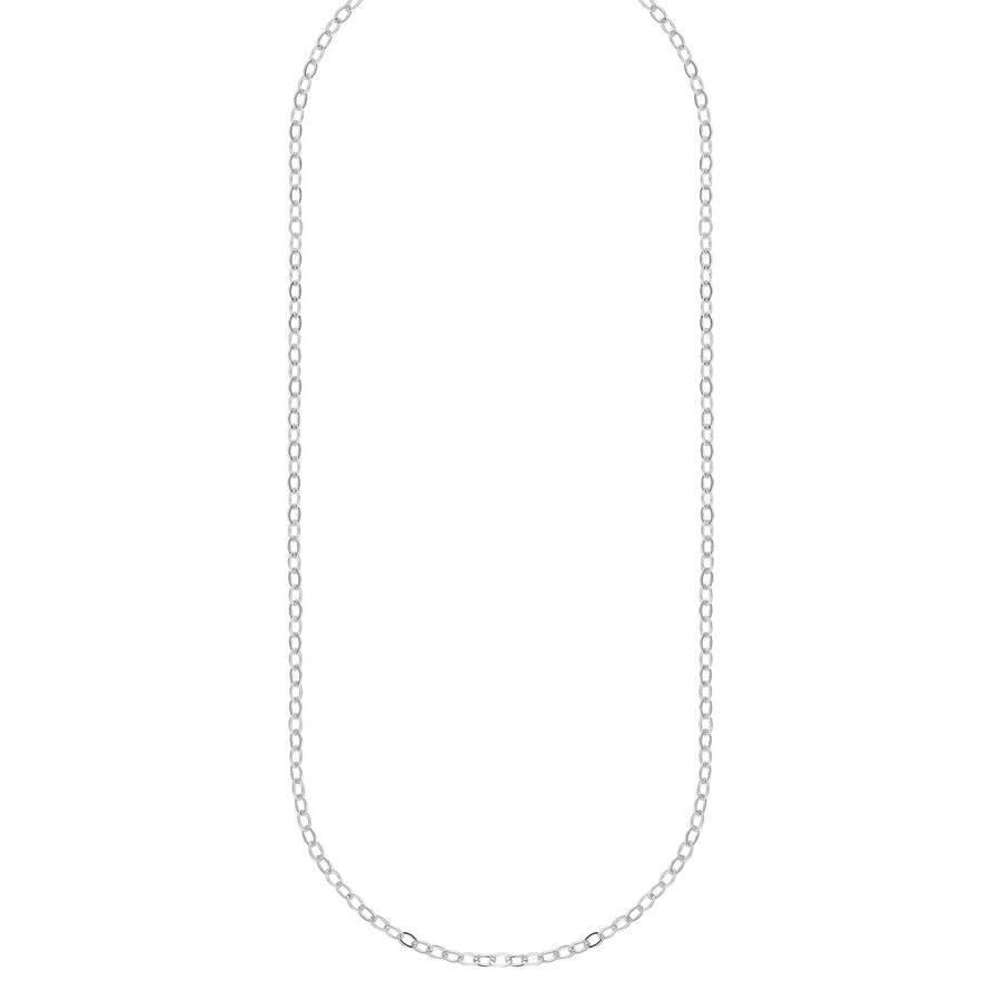 Snö Of Sweden Chase True Small Necklace, 50 Plain Silver