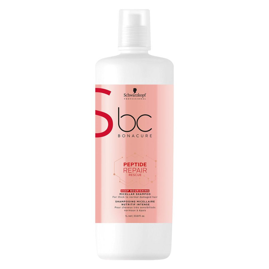 Schwarzkopf BC Peptide Repair Rescue Shampoo Deep Nourishing (1000 ml)
