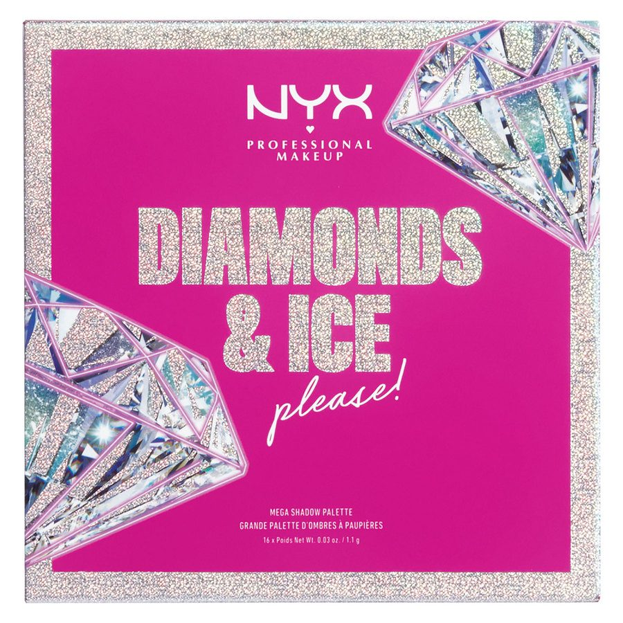 NYX Professional Makeup Xmas Diamonds & Ice 16 Pan Shadow Palette (16 x 1,1 g)