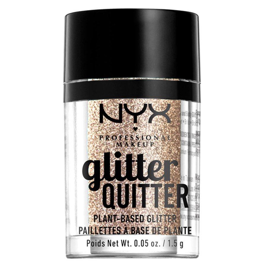 NYX Professional Makeup Glitter Quitter Plant Based Glitter, Gold (1,5g)