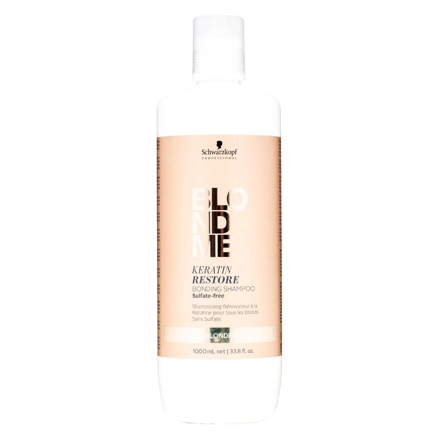 Schwarzkopf Blondme Keratin Restoring Bonding Shampoo (1000 ml)