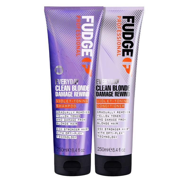Fudge Everyday Clean Blonde Damage Rewind Violet Toning Duo 2 x 250 ml