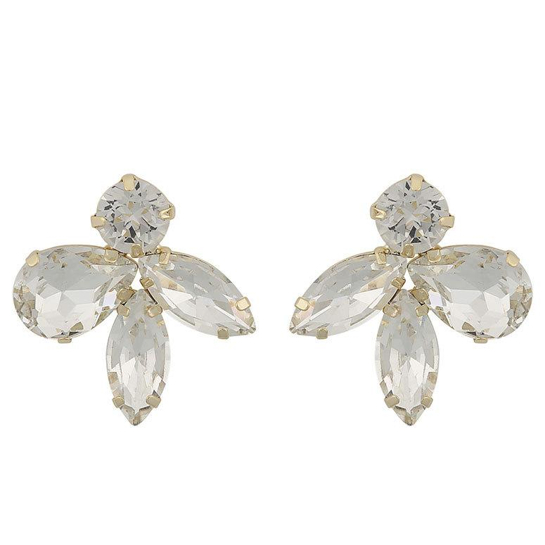 Snö Of Sweden Smith Earring, Gold/Clear 29 mm