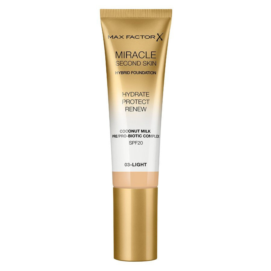 Max Factor Miracle Second Skin Foundation, #003 Light (33 ml)