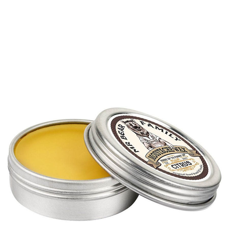 Mr Bear Family Moustache Wax Citrus (30 ml)
