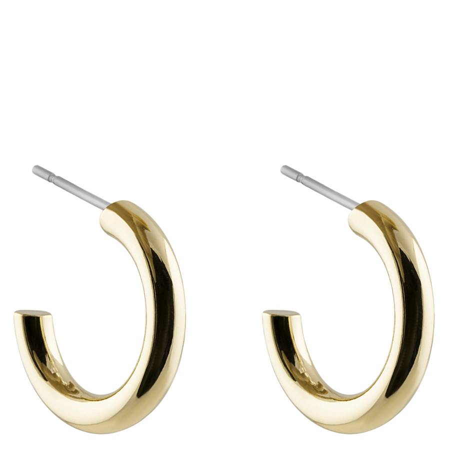 Snö of Sweden Adara Small Oval Earring, Plain Gold (18 mm)