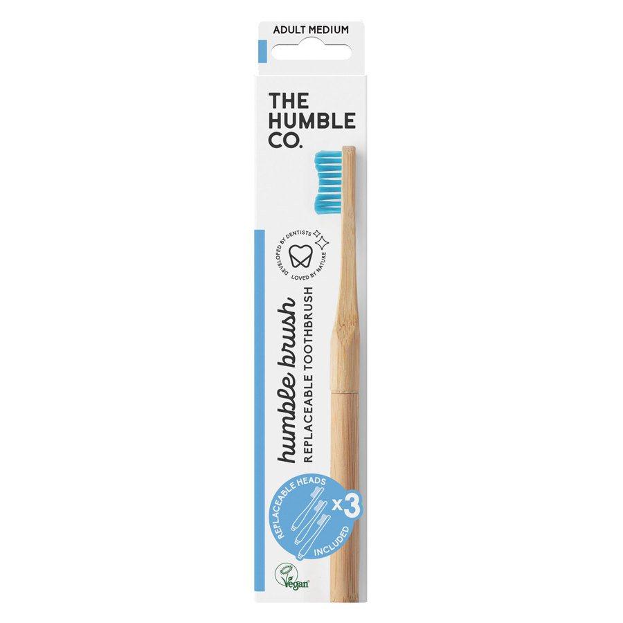 The Humble Co Humble Brush Interchangeable Head, Blue Medium