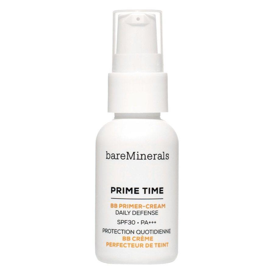 BareMinerals Prime Time BB Primer Cream Daily Defense SPF 30, Medium (30 ml)