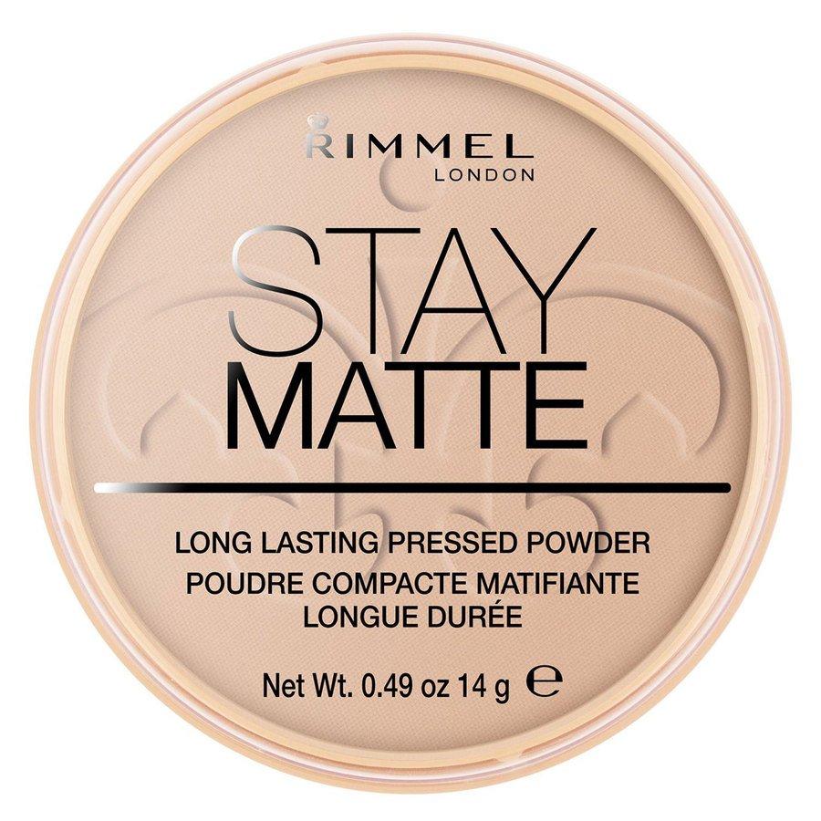 Rimmel Stay Matte Pressed Face Powder, Silky Beige 005 (14 g)