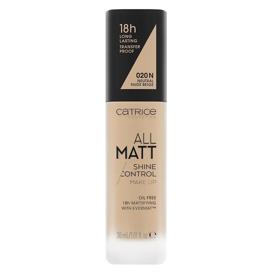 Catrice All Matt Shine Control Make Up, 020 N Neutral Nude Beige 30ml