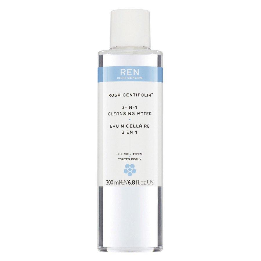 REN Clean Skincare Rosa Centifolia 3 in 1 Cleansing Water (200ml)