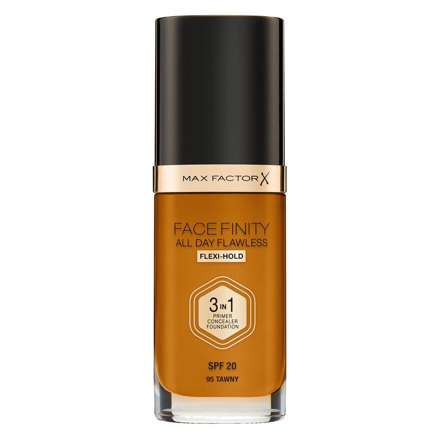 Max Factor Facefinity All Day Flawless 3-In-1 Foundation, W95 Tawny (30 ml)
