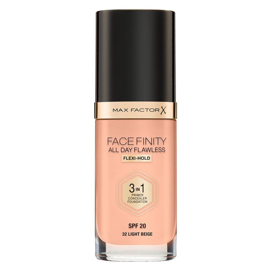 Max Factor Facefinity All Day Flawless 3-In-1 Foundation, #32 Light Beige (30 ml)