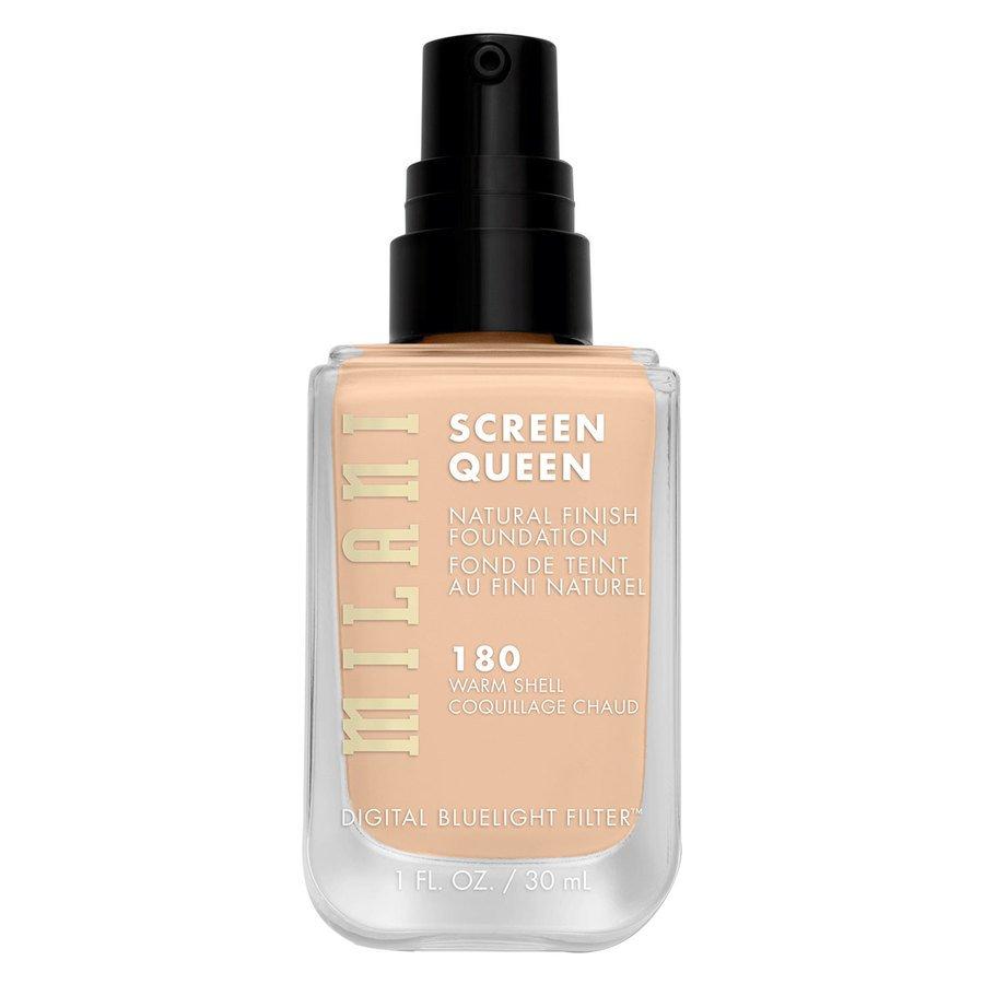 Milani Screen Queen Foundation, 180W Warm Shell (30 ml)