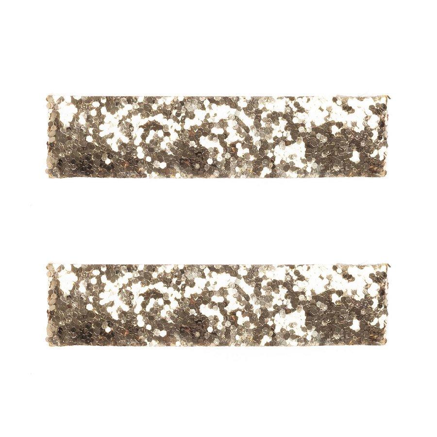 DARK Glitter Haarclips Large Gold (2Stck.)