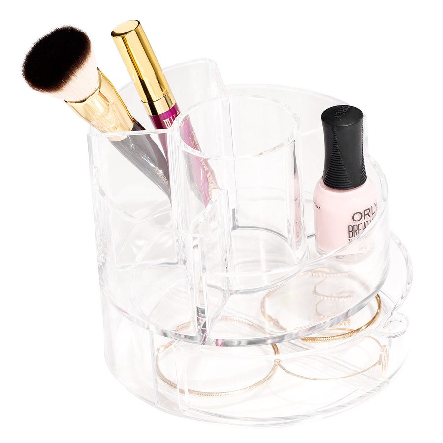 Shelas Cosmetic Organizer Cylindrical with Drawer