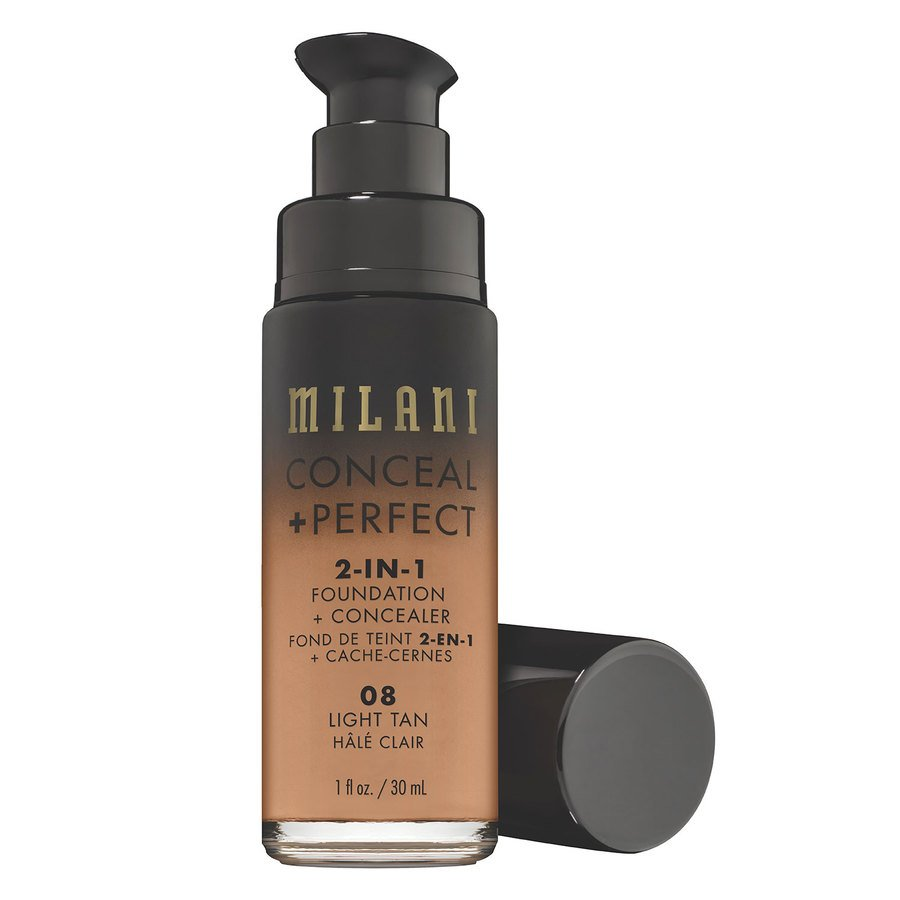 Milani Conceal & Perfect 2-In-1 Foundation + Concealer, Light Tan (30 ml)