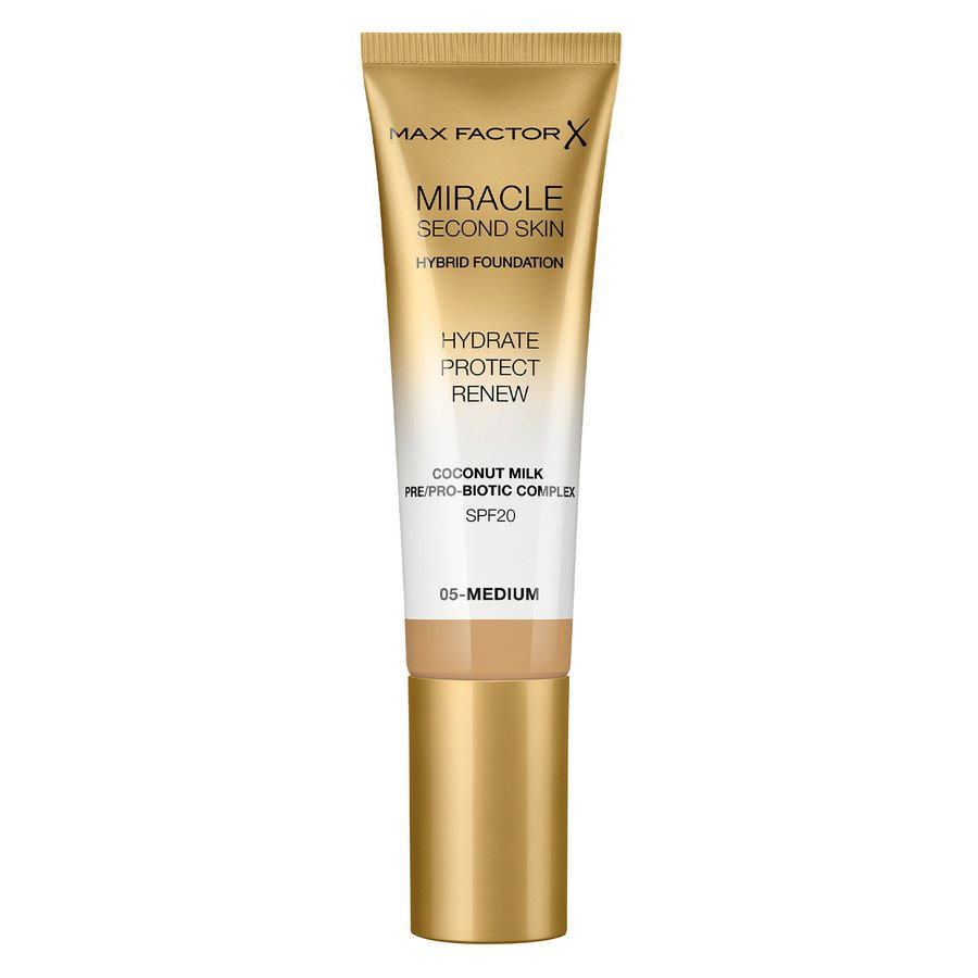 Max Factor Miracle Second Skin Foundation, #005 Medium (33 ml)