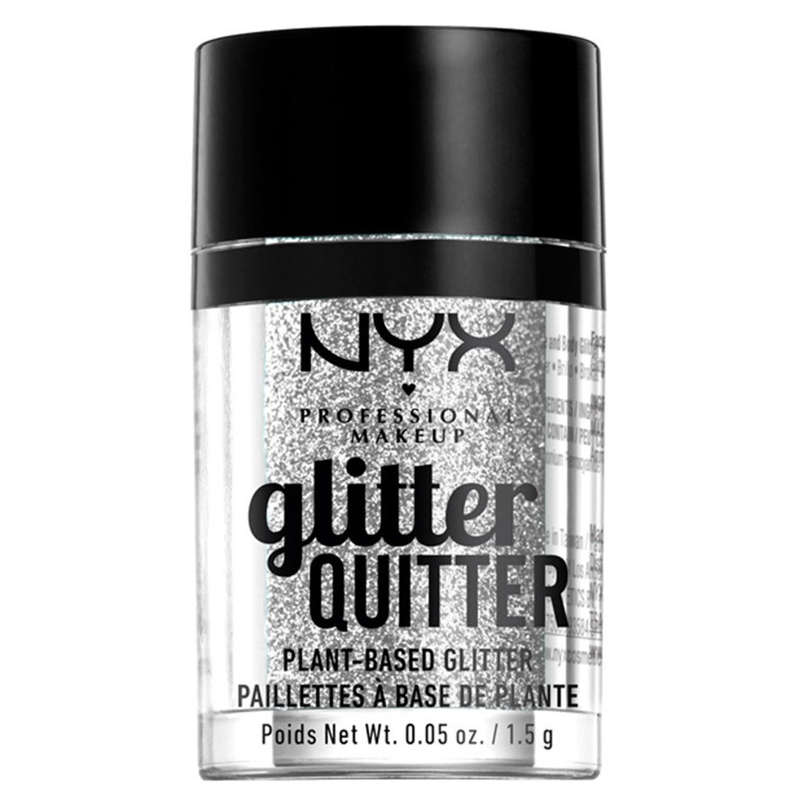 NYX Professional Makeup Glitter Quitter Plant Based Glitter, Silver (1,5 g)