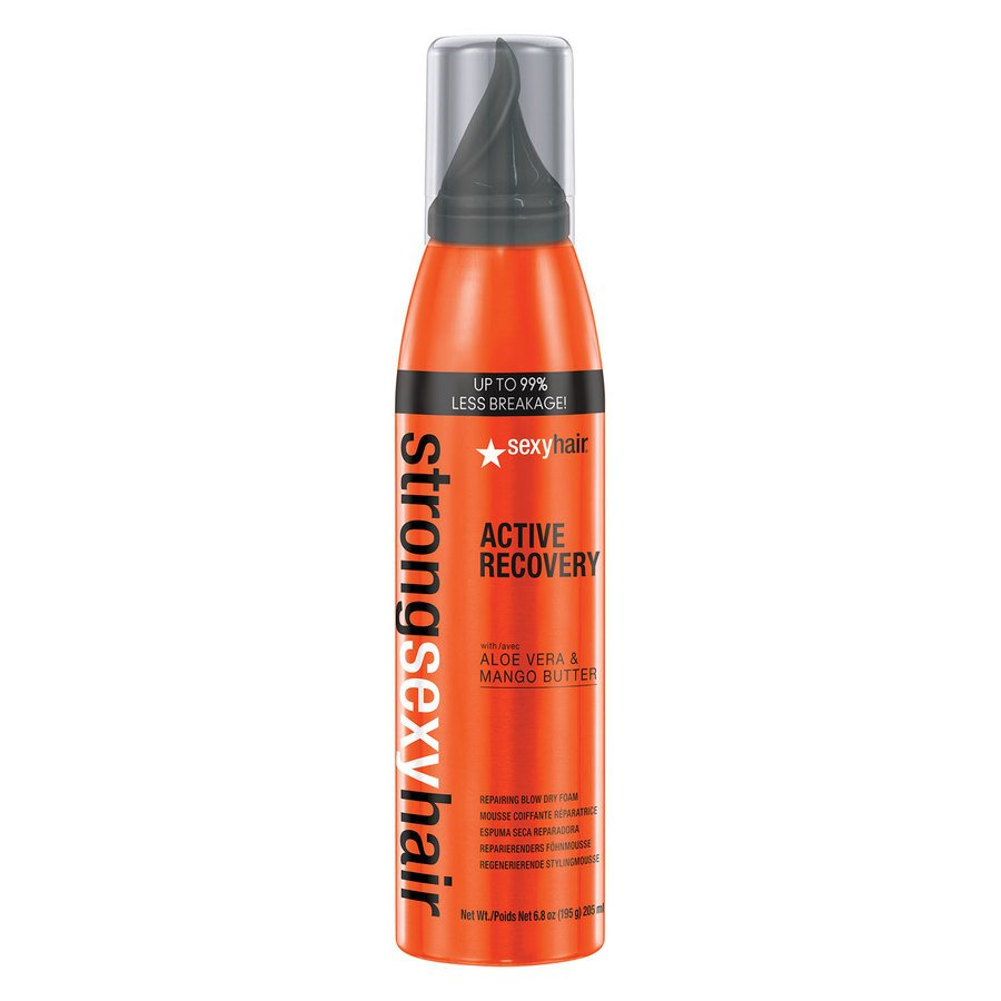 Sexy Hair Strong Active Recovery Repairing Blow Dry Foam 205ml