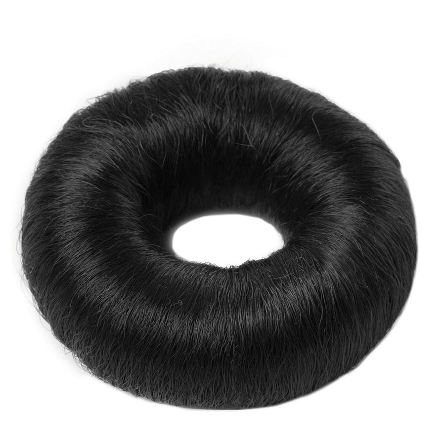Hair Accessories Synthetic Hair Bun Large Black (1 Stück)