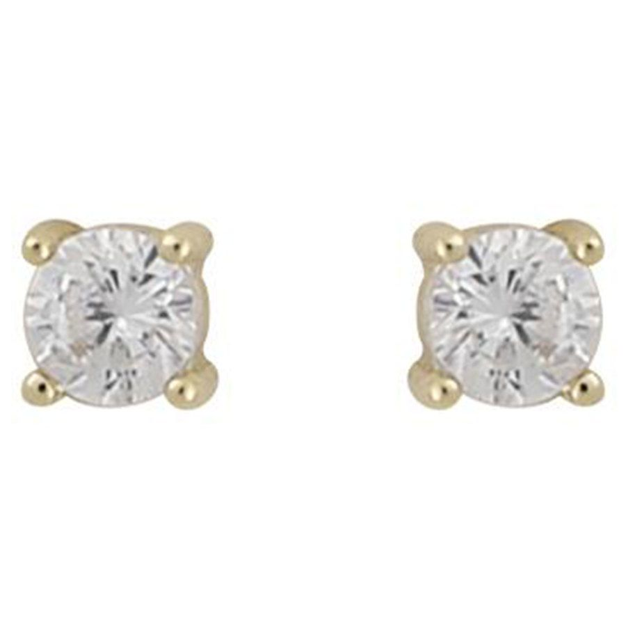 Snö Of Sweden Camille Small Stone Ohrring Gold/Clear