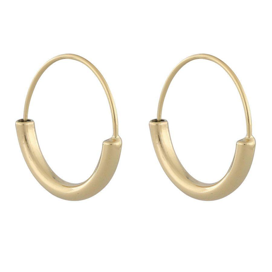 Snö Of Sweden Anglais Ring Earring, Plain Gold