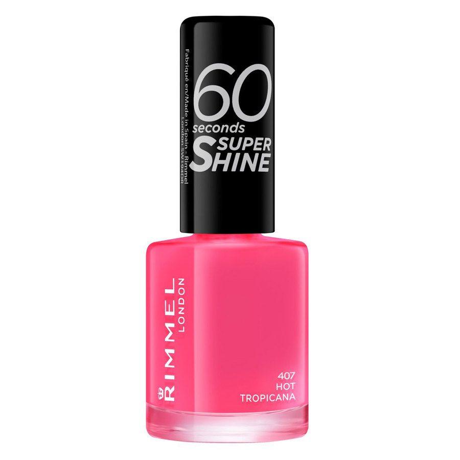 Rimmel London 60 Seconds Super Shine Nail Polish, # 407 Hot Tropicana (8 ml)