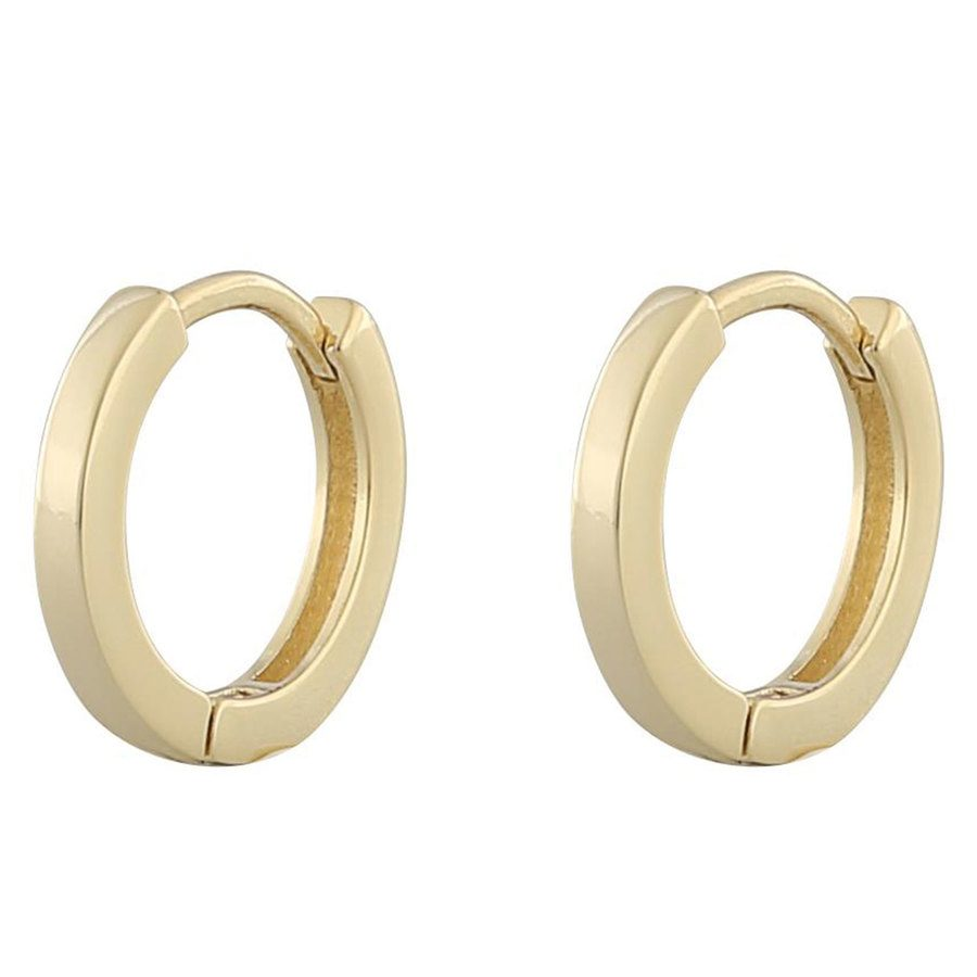 Snö Of Sweden Anchor Small Ring Ohrring, Plain Gold